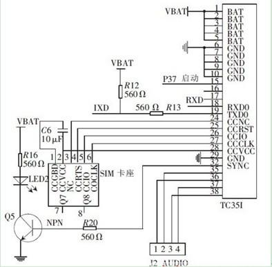 一款可以为很多通信应用提供经济高效解决方案的TC35I与微控制器的连接电路图