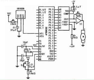 一款能利用非接触控制技术实现对被控目标遥远控制的红外遥控接收电路图