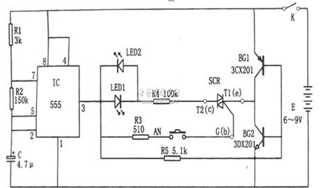 可控硅快速测试仪电路图