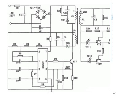 自行车蓄电池充电器电路图