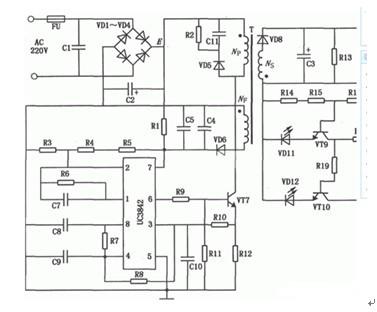 一款结构简单成本低廉的电动自行车蓄电池充电器电路图