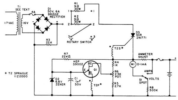 单结型晶体管充电器