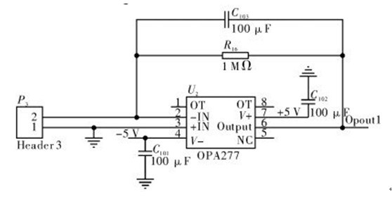 一款能将使半导体中的带负电的电子空穴分离的光电转换及压流转换电路图