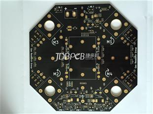 2.4板厚 3OZ铜厚 感光黑油 沉金板