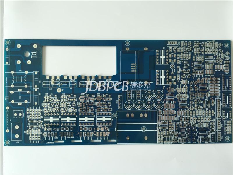 感光蓝油喷锡  2OZ铜厚 双面PCB打样