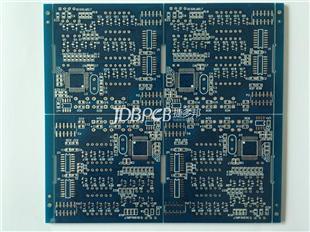 蓝油PCB 喷锡工艺 四拼版出货